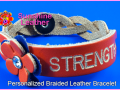 Personalized-Braided-Flower-Leather-Bracelet-Orange-Natural-Engraving-Sample-Strength