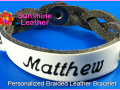 Personalized-Braided-Leather-Bracelet-White-Black-Engraving-Sample-Matthew