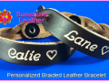 Personalized-Braided-Leather-Bracelet-brown-natural-Engraving-Sample-Date-Calie-Lane-Heart