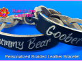 Personalized-Braided-Leather-Bracelet-brown-natural-Engraving-Sample-Date-Gummy-Bear-Goober