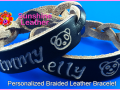 Personalized-Braided-Leather-Bracelet-brown-natural-Engraving-Sample-Date-Timmy-Bears