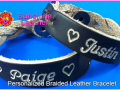 Personalized-Braided-Leather-Bracelet-brown-natural-Engraving-Sample-Justin-Paige-Heart