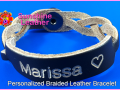 Personalized-Braided-Leather-Bracelet-brown-natural-Engraving-Sample-Marissa-Heart