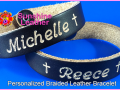 Personalized-Braided-Leather-Bracelet-brown-natural-Engraving-Sample-Michelle-Reece-Cross