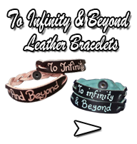 To Infinity and Beyond Leather Bracelets